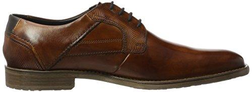Bugatti 312297022100, Zapatos de Cordones Derby para Hombre Marrón (Cognac)