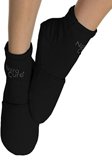NatraCure Cold Therapy Socks - Gel Ice Treatment for feet, Heels, Swelling, Arch Pain - (Size: Large)