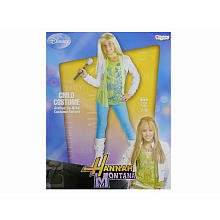 [Hannah Montana - Hannah with Shrug and Wig Child Costume Child (7-8)] (Miley Cyrus Disney Costume)