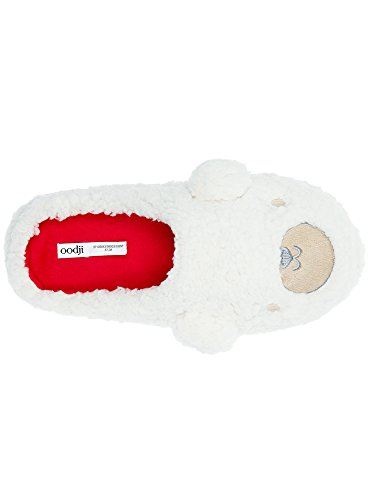 oodji Casa Mujer Ultra Zapatillas de Blanco 3325P qHvqr