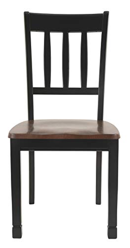 Ashley Furniture Signature Design - Owingsville Dining Room Side Chair - Latter Back - Set of 2 - Black-Brown by Signature Design by Ashley (Image #10)