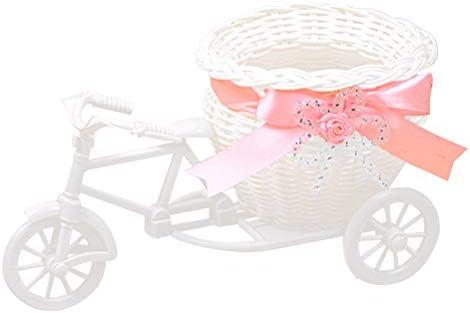 Yardwe Bicicleta Flor Planta de Almacenamiento de Bicicletas Cesta ...
