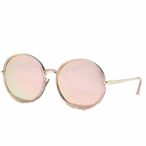 Liuxc Calle Cerezo Pulverizado Sol de de en polvo Gafas Polvo sol de Protector Blossom Gafas en de Polvo Gran Solar Gafas Cherry la Redondeado Sol en rTqOwr