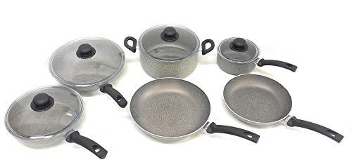 Ballarini 1889 Asti Nonstick Cookware Set, Grey, 10 Piece