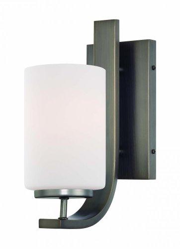 Elk Lighting TN0005715 Pendenza 1-Light Lamp in Oiled Bronze Vanity Wall Sconce, ()