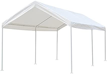 Heavy Duty Waterproof Outdoor Party Beige Tent with Removable Walls and Wheeled Bag Snail 10x20 ft Pop up Canopy Tent Carport