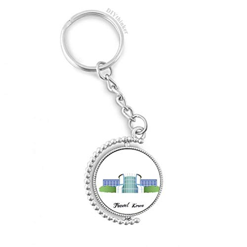 Korea Gwacheon Science Museum Rotatable Key Chain Ring Keyholder