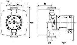 Grundfos alpha2 Bomba circuladora alpha2 25-60 180mm