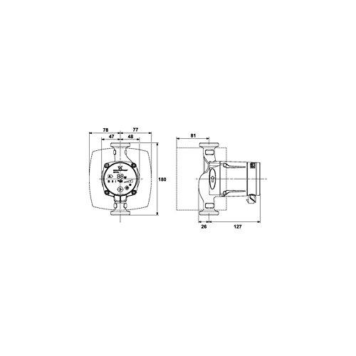 Grundfos Alpha2/ /60/180/mm /Pompe circuladora Alpha2/25/