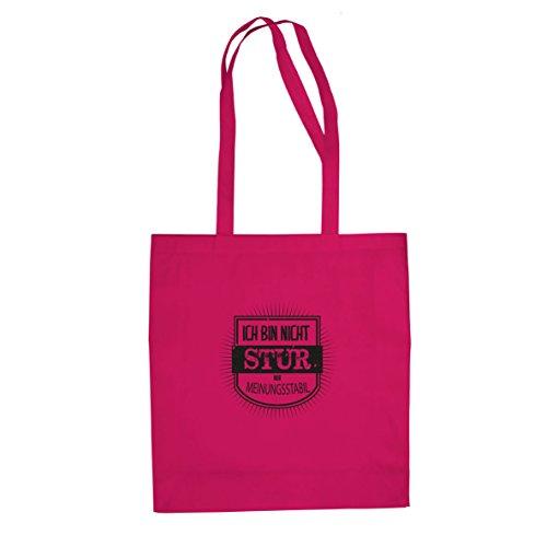 Ich bin nicht stur - Stofftasche / Beutel Pink uR0Qeb8