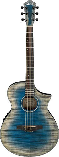 Ibanez AEWC32FM - Glacier Blue Low Gloss - Ibanez Guitar Acoustic Electric