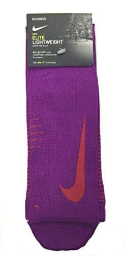 Nike Unisex Elite Lightweight OTC Running Socks Purple/Red 10-11.5 (M) 11.5-13 (W)