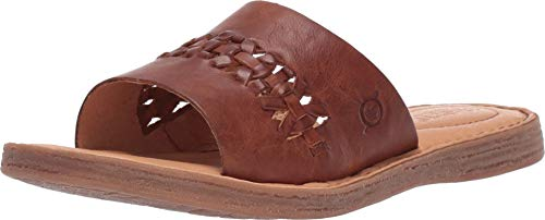 Francis Shoe - Born St. Francis Tan Full Grain Leather Women's Sandals (10 M US, Tan)