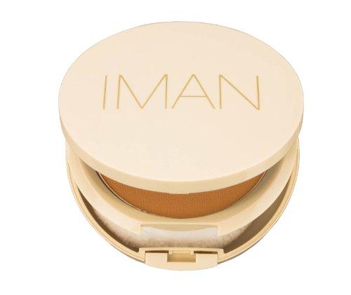 By Iman Luxury Pressed Powder - IMAN Cosmetics Perfect Response Oil-Blotting Pressed Powder, Light Skin, Light Medium