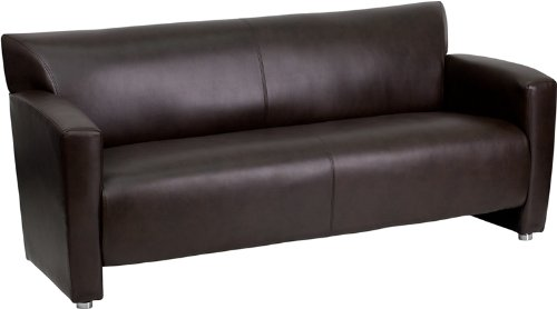 HERCULES Majesty Series Brown Leather Sofa by Flash