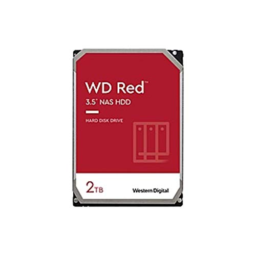 "WD WD20EFAX Red 2 TB Hard Drive - 3.5"" Internal - SATA (SATA/600) - Storage System Device Supported - 5400rpm - 180 TB TBW (Renewed)"