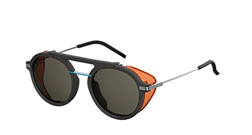 New Fendi FF M 0012/S Fantastic KB7/QT Grey Orange/Green Sunglasses