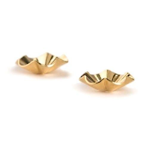 14 Karat Yellow 9 Millimeter Diameter Buttercup Earring Jackets