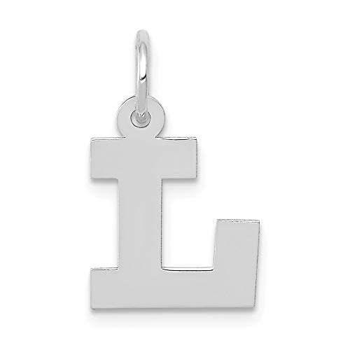 Jewelry Pendants & Charms Themed Charms 14k White Gold Small Block Initial L Charm ()