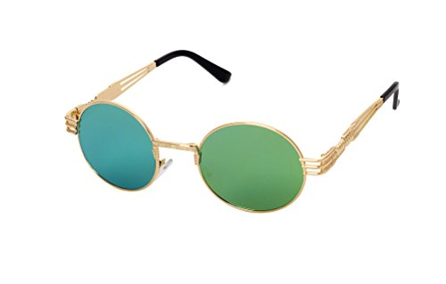 a4a919fee3 GAMT Retro Metal Hipster Steampunk Round Style Coating Sunglasses Gold - Buy  Online in Oman.