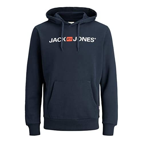 chollos oferta descuentos barato Jack Jones Jjecorp Logo Sweat Hood Noos Capucha Azul Navy Blazer Detail Reg Fit Medium para Hombre
