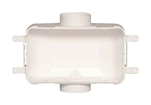 Oatey 38120 Centro II Plain Valve Washing Machine Outlet Box, White