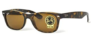 Ray-Ban RB2132 New Wayfarer Sunglasses Light Havana w/Crystal Brown (710) RB 2132 52mm Authentic