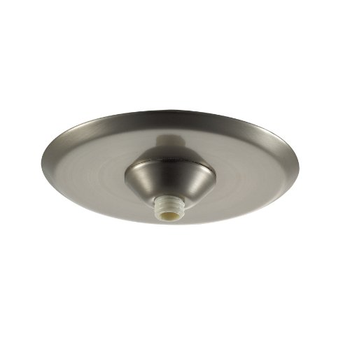 WAC Lighting QMPMITRBN Accessory Canopy with Wiring Compartment, Brushed Nickel Finish