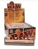 110mm Raw Hemp Plastic Hand Roller - 12pc Display