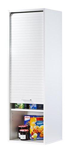 SIMMOB Cook Meuble de Cuisine Blanc Largeur 40 cm Hauteur 123.6 cm, Panneaux de Particules de Bois mélaminé, 35x40x123,6…