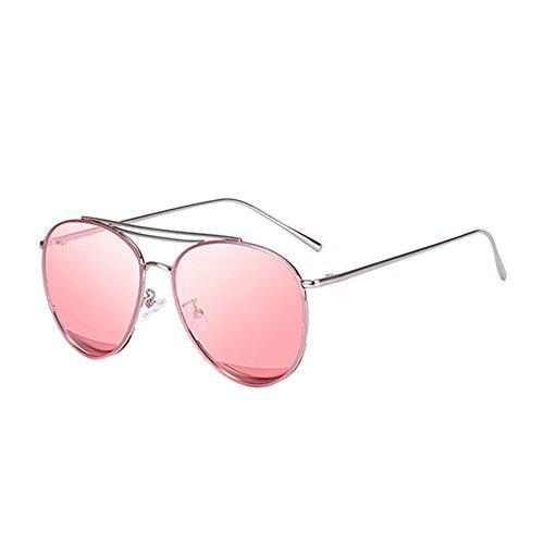 Gafas la Color de los de Cara Transparentes 1 Señoras de de del Color vidrios la Sol Lente 2 Transparentes DT de Las FndWO0qF