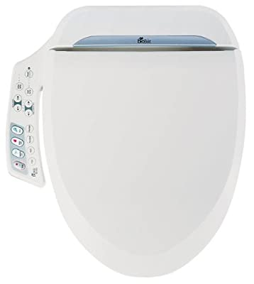 Bio Bidet Ultimate BB-600 Advanced Bidet Toilet Seat, Round White. Easy DIY Installation, Luxury Features From Side Panel Include: Adjustable Heated Seat and Water. Dual Nozzle Has Posterior and Feminine Wash. Power Save is Eco Friendly