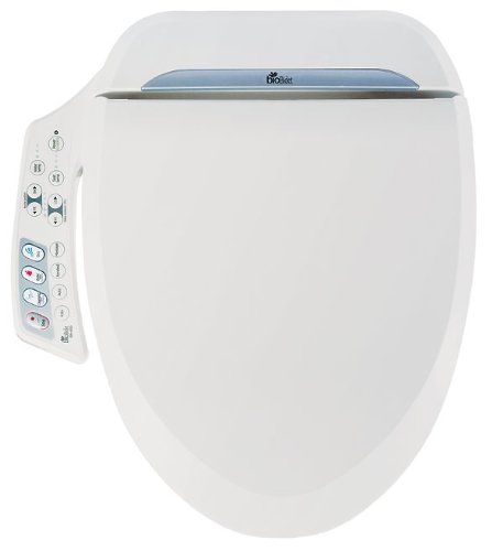 Bio Bidet Ultimate BB-600 Advanced Bidet Toilet Seat, Round White. Easy DIY Installation, Luxury Features From Side Panel, Adjustable Heated Seat and Water. Dual Nozzle Has Posterior and Feminine Wash (Seat Toilet Advanced White Bidet)
