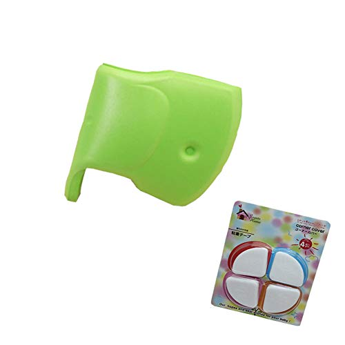 Bath Spout Cover Bathtub Faucet Cover and Corner Covers Baby Safe Protection for Bathroom, Cute Elephant Tub Spout Cover with 4 pcs Soft Baby Proofing Corner Guards Protectors