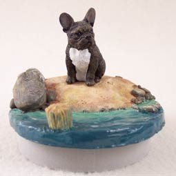 Conversation Concepts Miniature French Bulldog Candle Topper Tiny One ''A Day on the Beach''