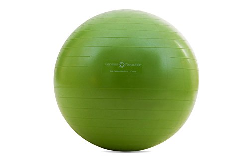 Fitness Republic 55cm Stability Ball Green with Pump (Exercise Ball / Gym Ball)