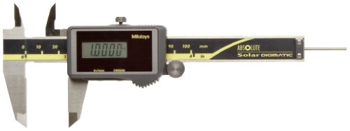 Mitutoyo 500-473CAL Absolute Digimatic Caliper with Calibration, Stainless Steel, Solar Powered, Inch/Metric, 0-4