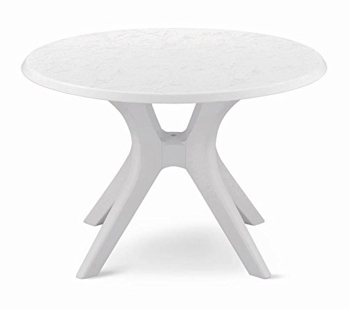 46″ Kettalux Plus Dining Table with Umbrella Hole Finish: White