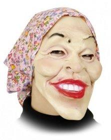 Orlob Maske Alte Frau Mit Kopftuch Zum Kostum Karneval Fasching