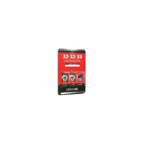 Lexmark Ink Cartridges Value Pack - 2 Black & 1 Color (32 & 32 & 33) - For Printers: P6350, X5450, X5470, X7170, X7310, X7350, X8310, X8350, P910 Series, P4300 Series, P6200 Series, P3300 Series, X5200 Series, Z810 Series