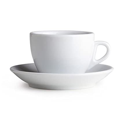 75b22b81b34 Palermo Style Cappuccino Espresso Latte Cups White By Nuova Point Made in  Italy (Cappuccino)