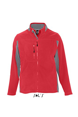 Sols Fleecejacket Nordic S,Red