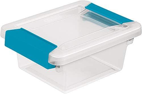 STERILITE Mini Clip Box Clear Base & Lid Aquarium Blue Latches