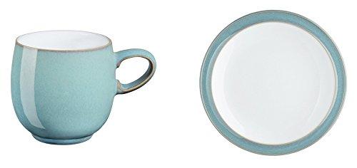 Denby Azure Small Curve Mug and Tea Plate, Set of 2 Azure Tea Plate