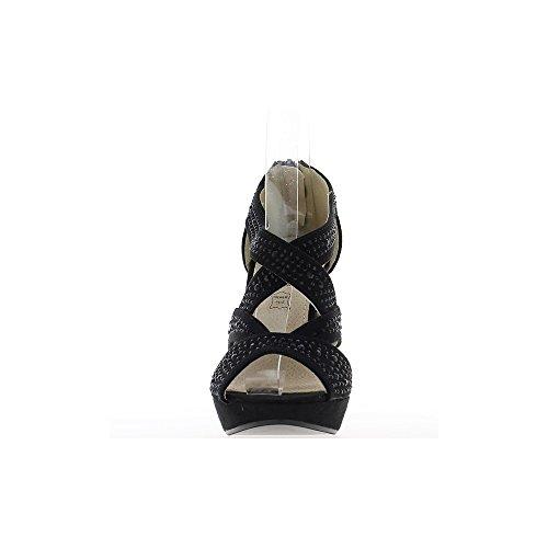 Sandalias de lona de Vestir ChaussMoi Mujer R7Fxfw