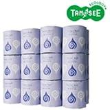TANOSEE トイレットペーパー シングル 個包装・水に流せる芯 65m 24ロール×3ケース