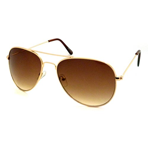 CLASSIC Air Force Aviator Style Sunglasses (Gradient Gold - Mens Sunglasses Hottest