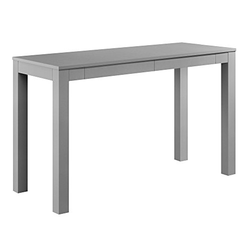 (Ameriwood Home Parsons Xl Desk with 2 Drawers, Gray Gray)