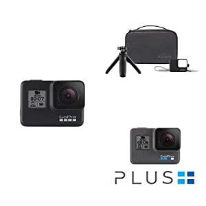 GoPro HERO7 Black — Waterproof Digital Action Camera with Accessory Travel Kit and GoPro Plus