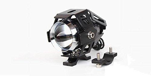GOODKSSOP 2pcs Super Bright 3000LM CREE U5 125W LED Motorcycle Universal Headlight Work Light Driving Fog Spot Lamp Night Safety Headlamp + 1pcs Switch (Black) by GOODKSSOP (Image #3)